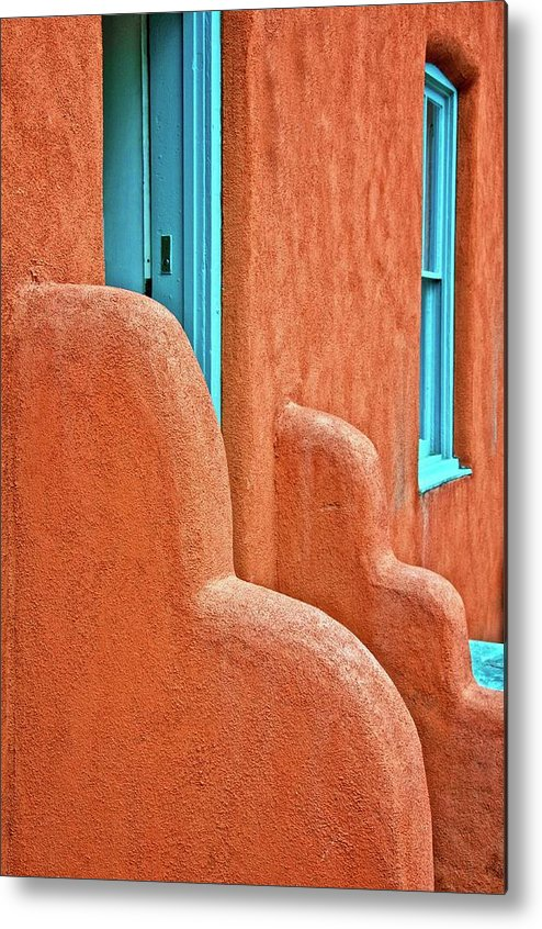 Door Metal Print featuring the photograph New Mexico Style by Zayne Diamond Photographic