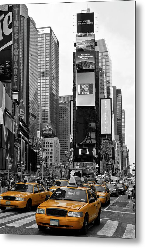 Manhattan Metal Print featuring the photograph NEW YORK CITY Times Square by Melanie Viola