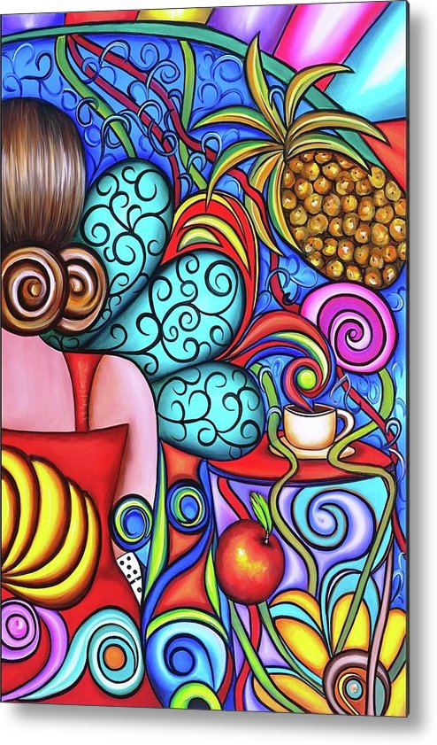 Cuba Metal Print featuring the painting On My Mind by Annie Maxwell