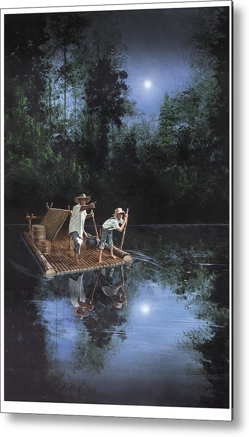 Harold Shull Metal Print featuring the painting On The River by Harold Shull