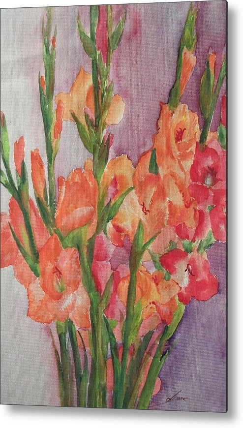 Flowers Metal Print featuring the painting Red Branches by Lian Zhen
