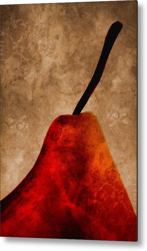 Pear Metal Print featuring the photograph Red Pear IIi by Carol Leigh