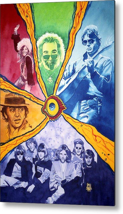 Janis Joplin Metal Print featuring the painting San Francisco Rock by Ken Meyer jr
