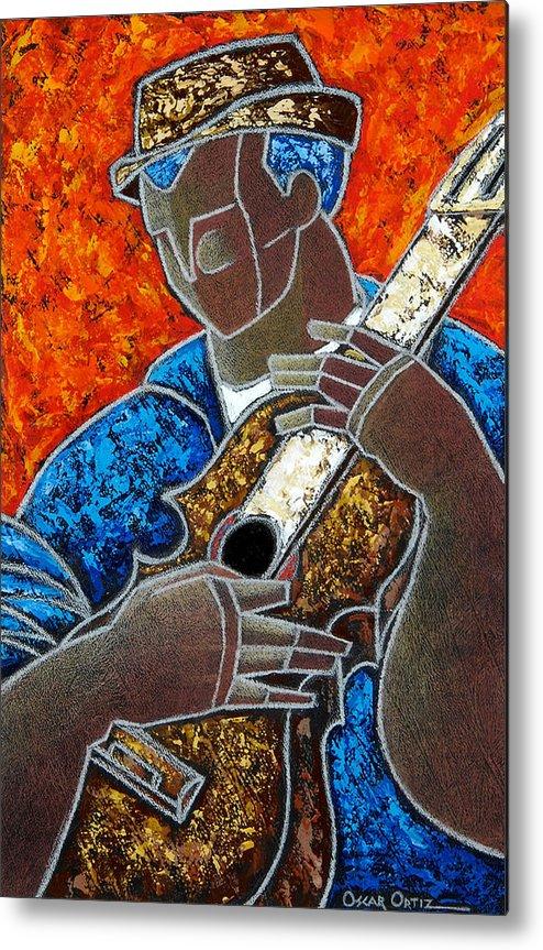 Puerto Rico Metal Print featuring the painting Solo De Cuatro by Oscar Ortiz