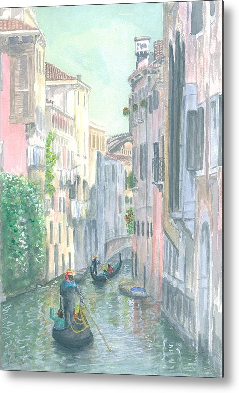 Venice Metal Print featuring the painting Street Scene by Dan Bozich