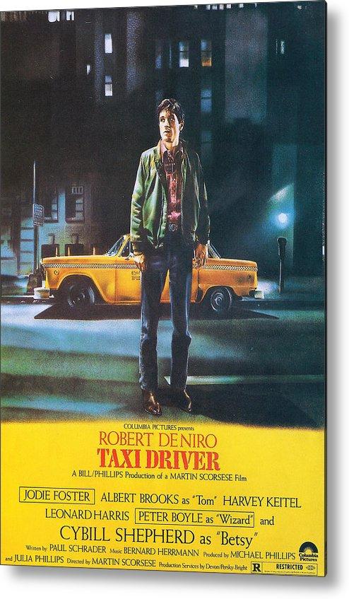 Tin Sign Taxi Driver Vintage Sign Metal Plaque Robert De Niro Metal Sign Cinema Movie Poster Home Pub Bar Cafe Man Cave