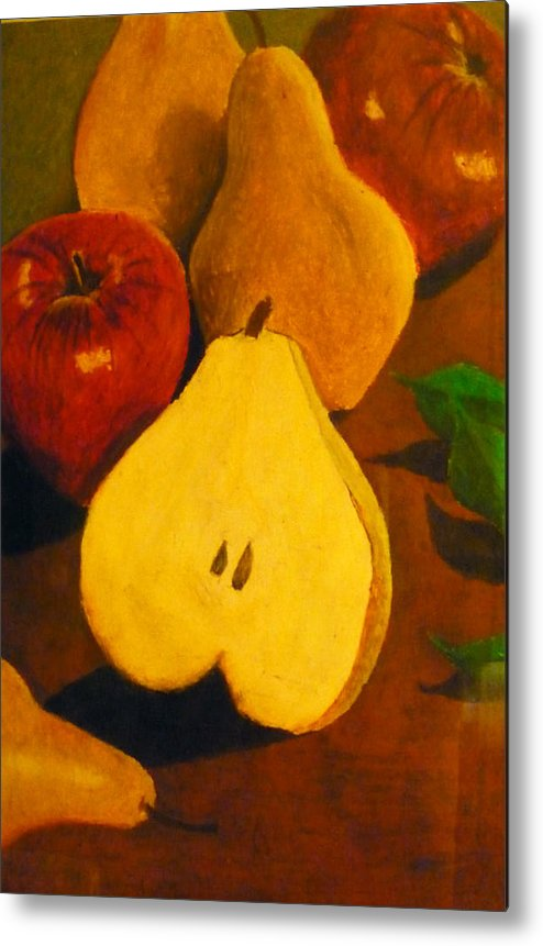 Fruits Metal Print featuring the painting The Fruits by Christian Hidalgo