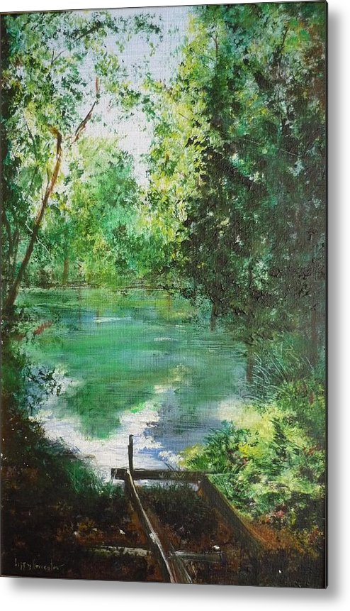 Lake Metal Print featuring the painting The Lake At Stansted Unfinished by Lizzy Forrester