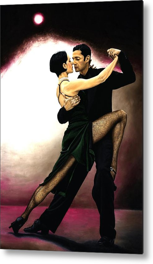 Tango Metal Print featuring the painting The Temptation of Tango by Richard Young