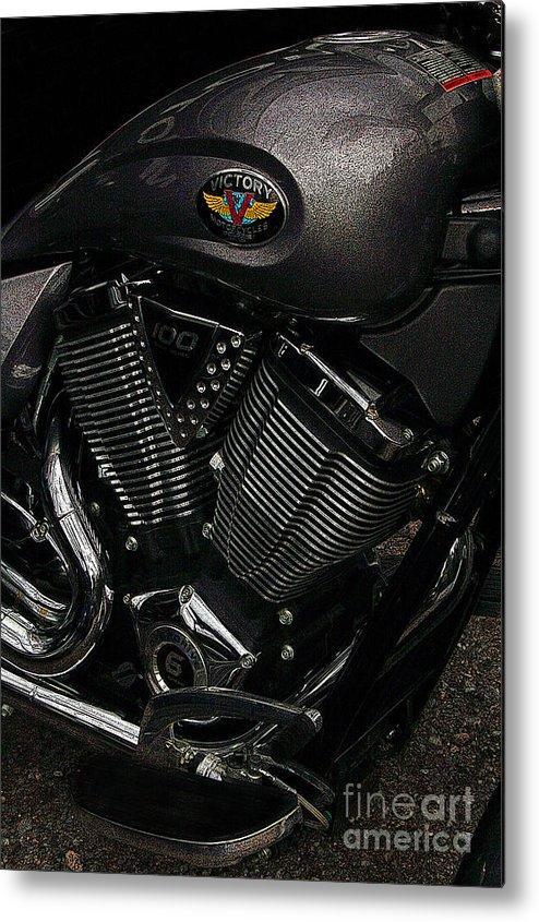 Diane Berry Metal Print featuring the photograph Victory Motorcycle by Diane E Berry