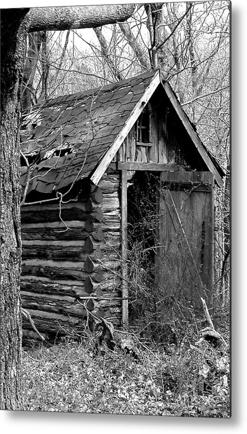 Ansel Adams Metal Print featuring the photograph WinslowLogOuthouse-11x17 by Curtis J Neeley Jr