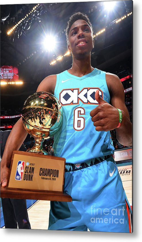 Nba Pro Basketball Metal Print featuring the photograph 2019 At&t Slam Dunk Contest by Andrew D. Bernstein
