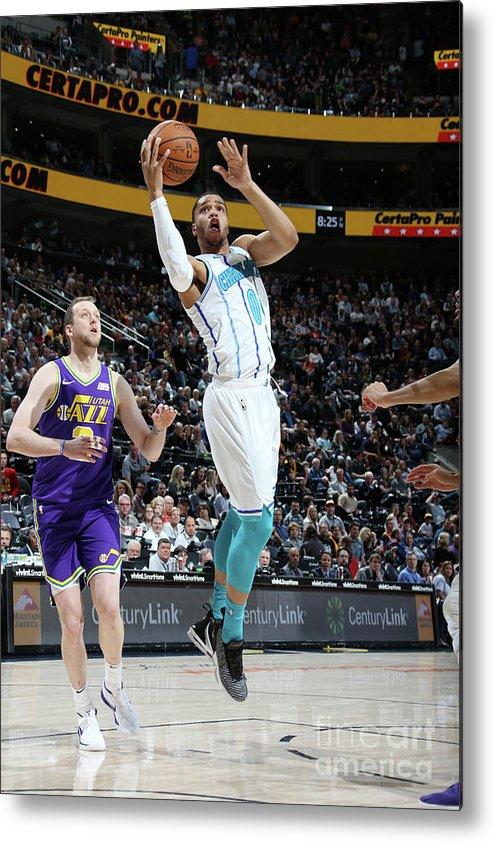 Nba Pro Basketball Metal Print featuring the photograph Charlotte Hornets V Utah Jazz by Melissa Majchrzak