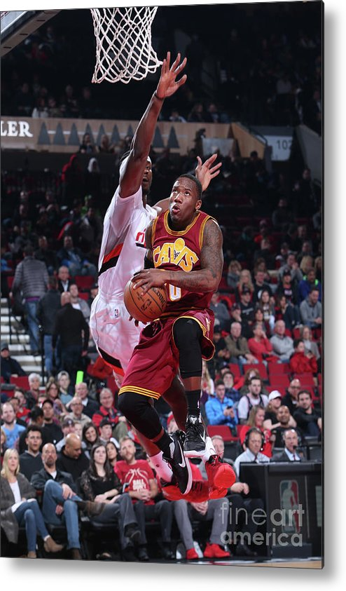 Nba Pro Basketball Metal Print featuring the photograph Cleveland Cavaliers V Portland Trail by Sam Forencich