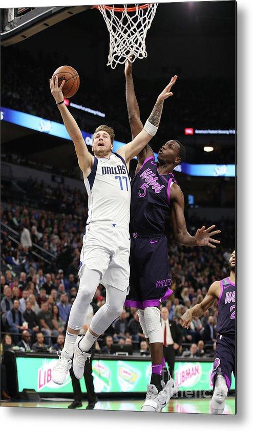 Nba Pro Basketball Metal Print featuring the photograph Dallas Mavericks V Minnesota by Jordan Johnson