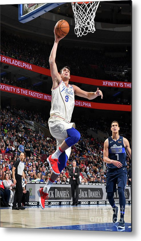 Sports Ball Metal Print featuring the photograph Dallas Mavericks V Philadelphia 76ers by Jesse D. Garrabrant