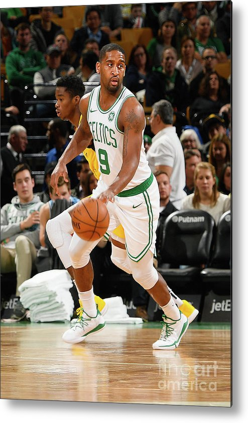 Nba Pro Basketball Metal Print featuring the photograph Indiana Pacers V Boston Celtics by Steve Babineau