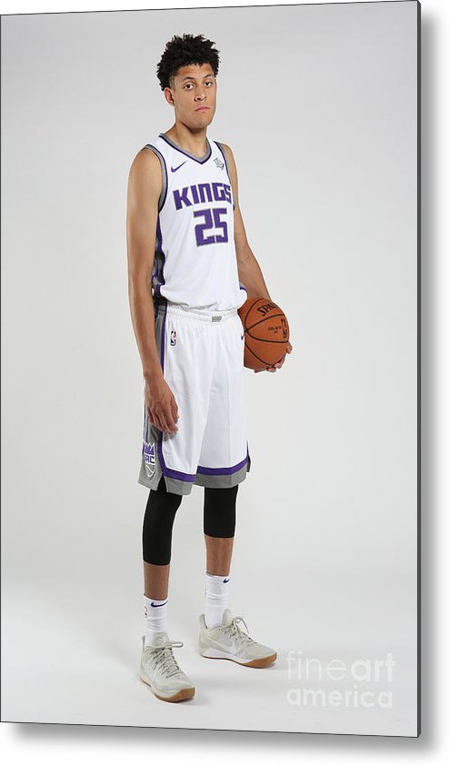 Nba Pro Basketball Metal Print featuring the photograph Justin Jackson Rookie Shoot by Steve Yeater