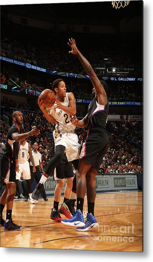 Smoothie King Center Metal Print featuring the photograph La Clippers V New Orleans Pelicans by Layne Murdoch