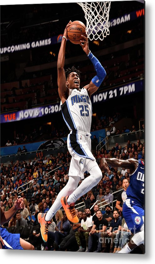 Nba Pro Basketball Metal Print featuring the photograph La Clippers V Orlando Magic by Gary Bassing