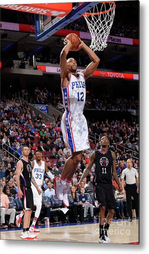 Nba Pro Basketball Metal Print featuring the photograph La Clippers V Philadelphia 76ers by David Dow