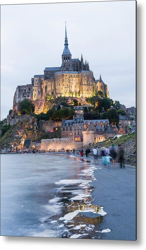 Mont Saint-michel Metal Print featuring the photograph Le Mont Saint Michel, Normandy, France by John Harper