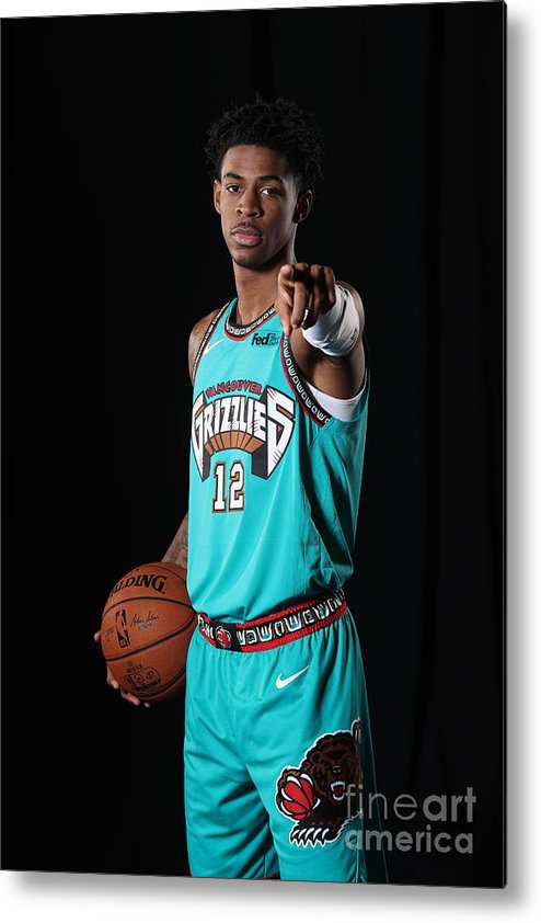 Nba Pro Basketball Metal Print featuring the photograph Memphis Grizzlies Portrait Shoot In by Joe Murphy