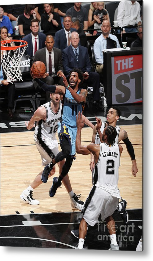 Playoffs Metal Print featuring the photograph Memphis Grizzlies V San Antonio Spurs - by Joe Murphy