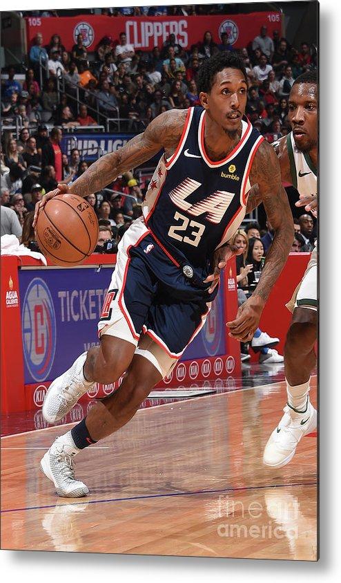Nba Pro Basketball Metal Print featuring the photograph Milwaukee Bucks V La Clippers by Adam Pantozzi