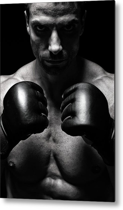 Toughness Metal Print featuring the photograph Mma Fighter by Vuk8691