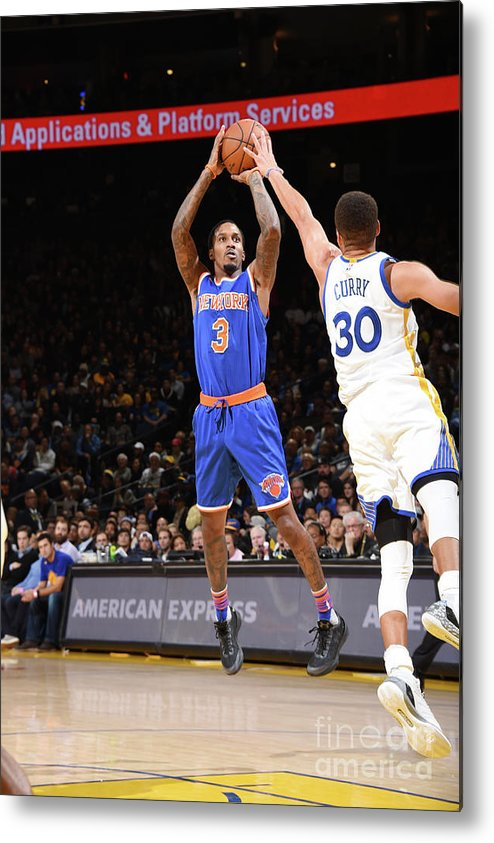 Nbaps Metal Print featuring the photograph New York Knicks V Golden State Warriors by Andrew D. Bernstein