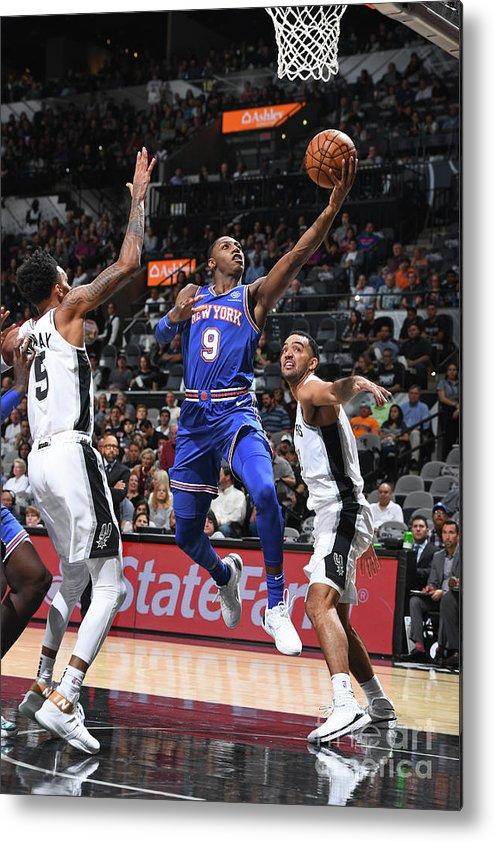 Nba Pro Basketball Metal Print featuring the photograph New York Knicks V San Antonio Spurs by Garrett Ellwood