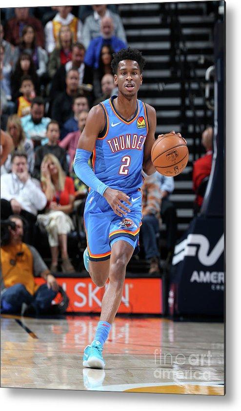 Nba Pro Basketball Metal Print featuring the photograph Oklahoma City Thunder V Utah Jazz by David Sherman