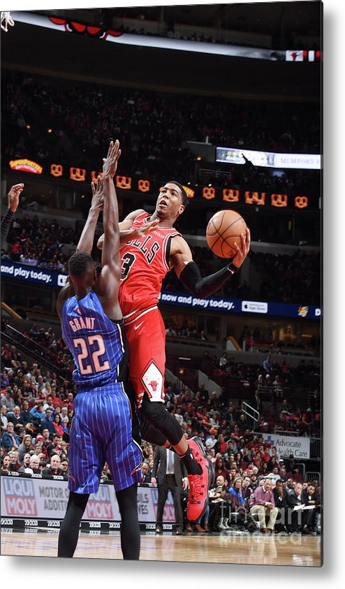 Nba Pro Basketball Metal Print featuring the photograph Orlando Magic V Chicago Bulls by Randy Belice