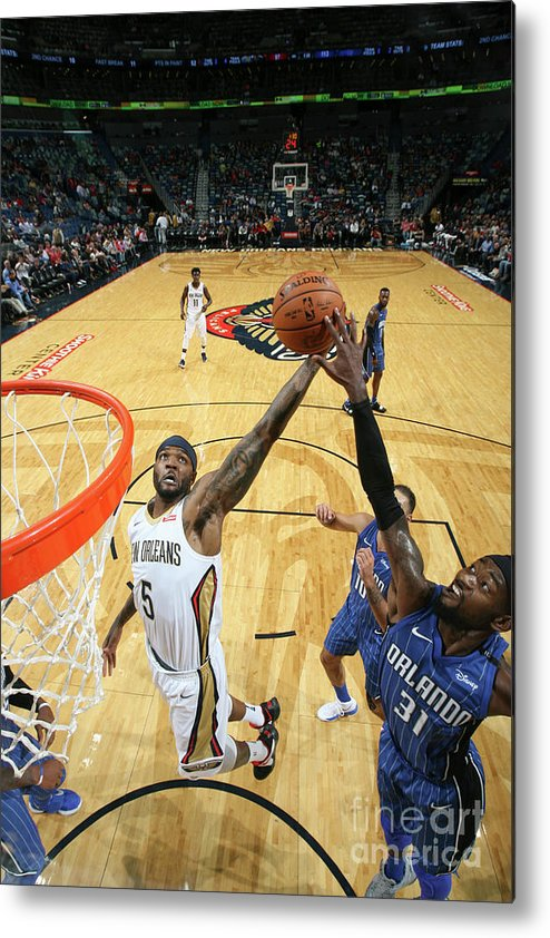 Smoothie King Center Metal Print featuring the photograph Orlando Magic V New Orleans Pelicans by Layne Murdoch