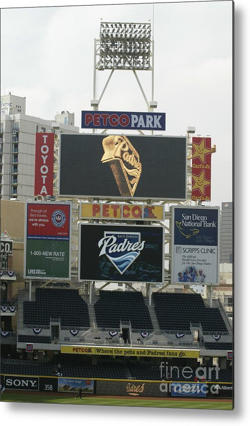Opening Metal Print featuring the photograph Padres V Giants by Rob Leiter