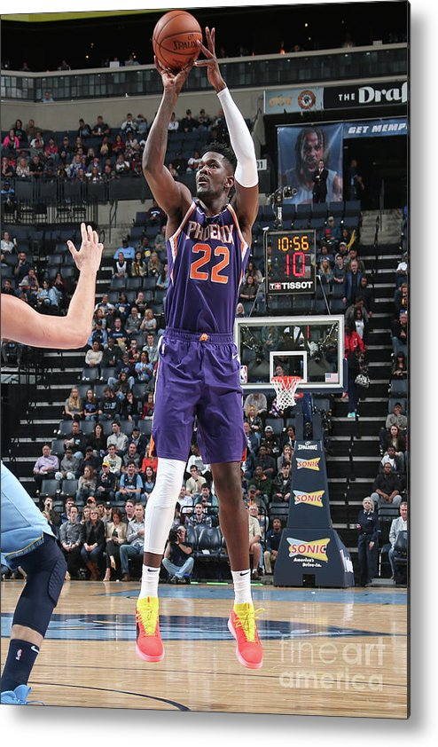 Nba Pro Basketball Metal Print featuring the photograph Phoenix Suns V Memphis Grizzlies by Ned Dishman
