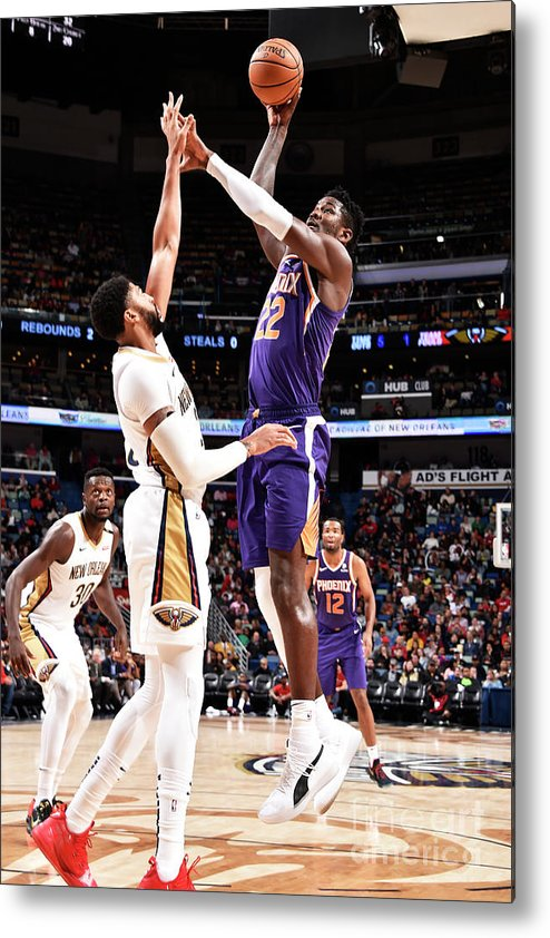Smoothie King Center Metal Print featuring the photograph Phoenix Suns V New Orleans Pelicans by Bill Baptist