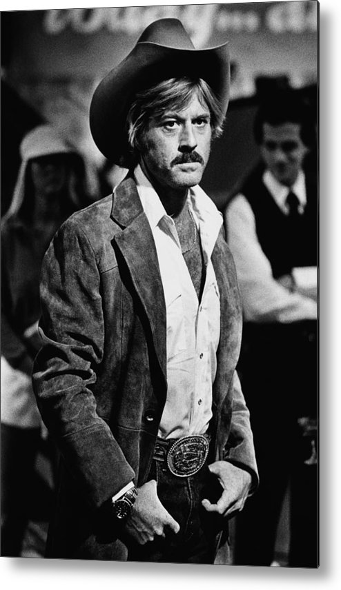 Sydney Pollack Metal Print featuring the photograph Robert Redford Stars In The by George Rose