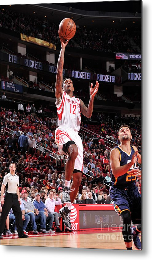 Nba Pro Basketball Metal Print featuring the photograph Utah Jazz V Houston Rockets by Bill Baptist