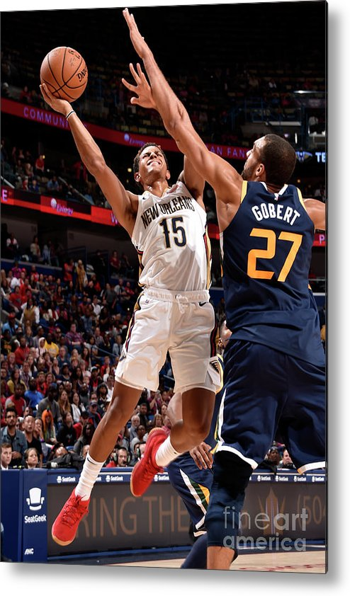 Smoothie King Center Metal Print featuring the photograph Utah Jazz V New Orleans Pelicans by Bill Baptist
