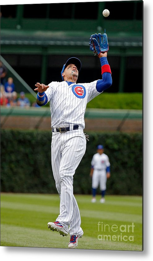 People Metal Print featuring the photograph Washington Nationals V Chicago Cubs by Jon Durr
