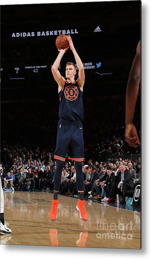 Nba Pro Basketball Metal Print featuring the photograph Brooklyn Nets V New York Knicks by Nathaniel S. Butler