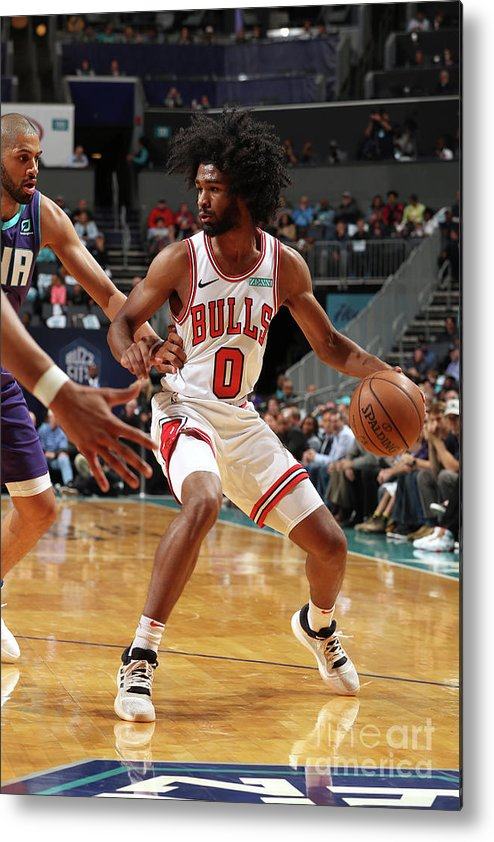 Coby White Metal Print featuring the photograph Chicago Bulls V Charlotte Hornets by Kent Smith