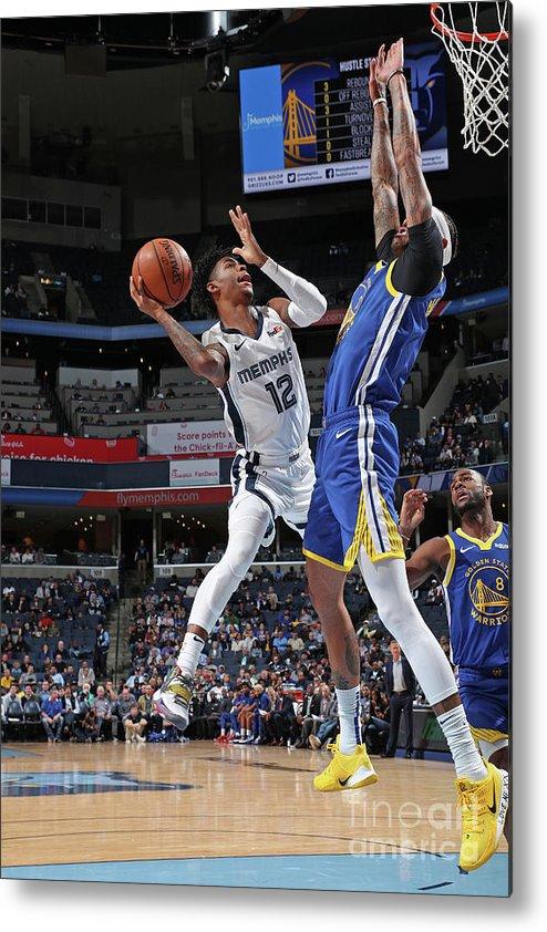 Nba Pro Basketball Metal Print featuring the photograph Golden State Warriors V Memphis by Joe Murphy