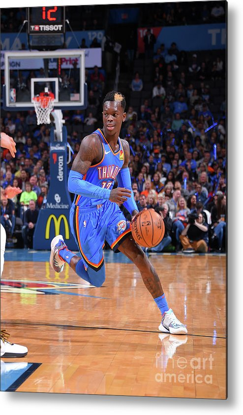 Nba Pro Basketball Metal Print featuring the photograph New Orleans Pelicans V Oklahoma City by Bill Baptist