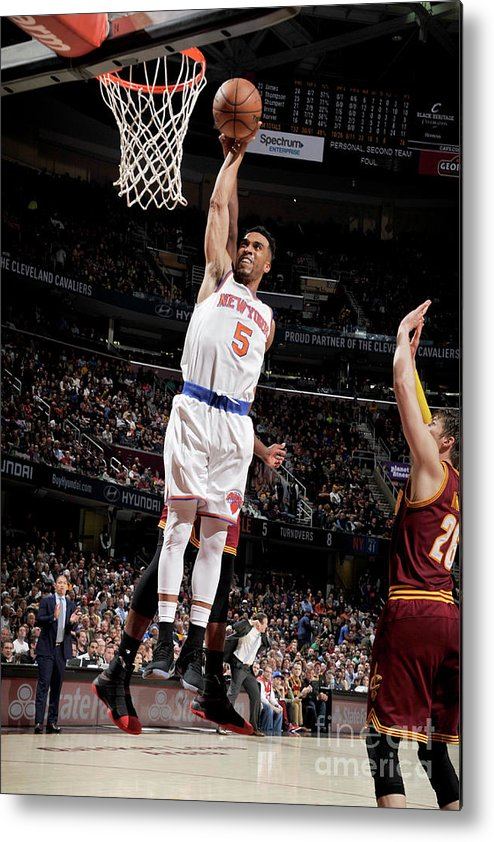 Nba Pro Basketball Metal Print featuring the photograph New York Knicks V Cleveland Cavaliers by David Liam Kyle
