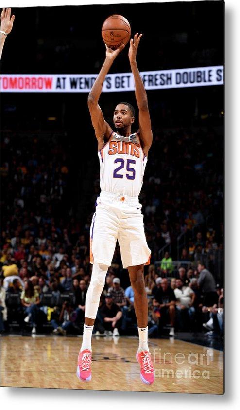 Nba Pro Basketball Metal Print featuring the photograph Phoenix Suns V Denver Nuggets by Garrett Ellwood