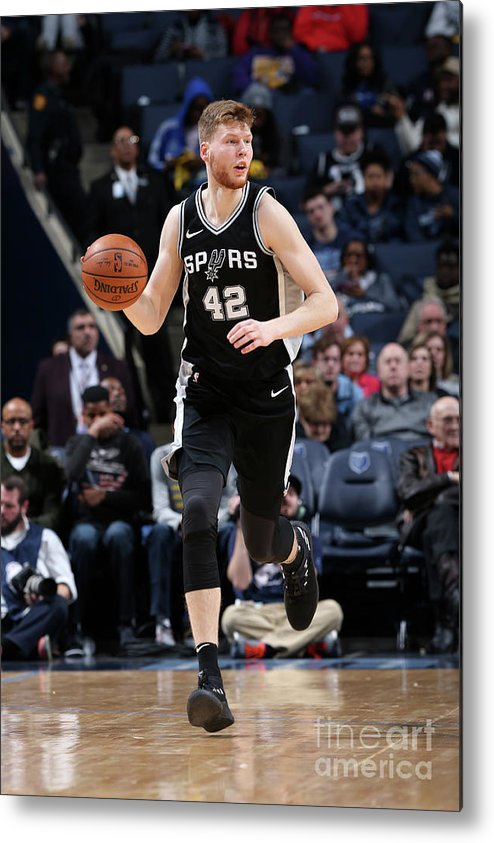 Nba Pro Basketball Metal Print featuring the photograph San Antonio Spurs V Memphis Grizzlies by Joe Murphy