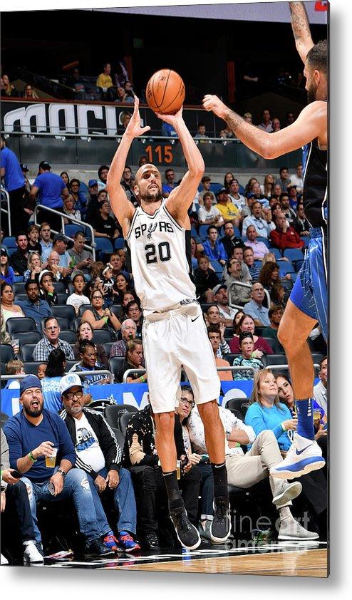 Nba Pro Basketball Metal Print featuring the photograph San Antonio Spurs V Orlando Magic by Fernando Medina